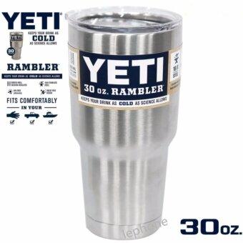 YETI Rambler แก้วเก็บความเย็น เก็บน้ำแข็งได้นาน 24ชั่วโมง - สีสแตนเลส
