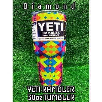 YETI Rambler Star แก้วเก็บความเย็น เก็บน้ำแข็งได้นาน 24ชั่วโมง ขนาด 30 ออนซ์ แบบลาย