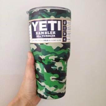 YETI Rambler Tumbler แก้วเยติ แก้วน้ำเก็บอุณหภูมิ แก้วเก็บความเย็น YETI แก้วเก็บร้อน แก้วกาแฟ แก้วเบียร์ ขนาด 30 ออนซ์ (ลายพราง)