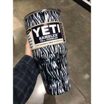 YETI Rambler Tumbler แก้วเยติ แก้วน้ำเก็บอุณหภูมิ YETI แก้วเก็บร้อน แก้วเก็บความเย็น แก้วกาแฟ แก้วเบียร์ ขนาด 30 ออนซ์ (ZEBRA1-ม้าลายขาวดำ)