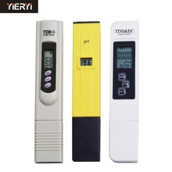 yieryi Digital TDS Meter + pH Meter + EC Meter Pocket Pen Aquarium Filter Water Quality Purity Tester - intl