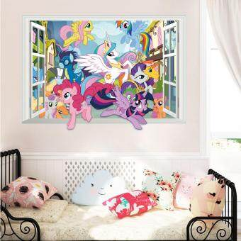 Harga Yika My Little Pony 3D Window Decal Graphic Kids WALL STICKER ArtMural Pinkie Pie - intl