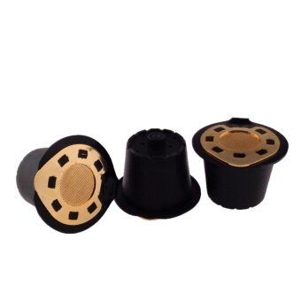 Yika Reusable Coffee Cup Refillable Capsule Pod With Spoon ForNespresso Espresso - intl