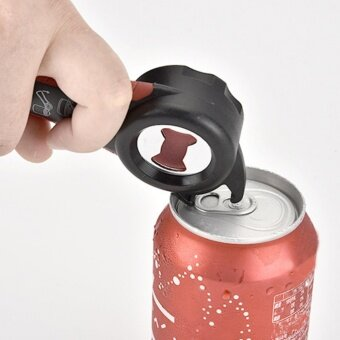 Yika Stainless Steel 5 in 1 Multi-functional Home Kitchen BottlesCans Opener Manual Tool - intl