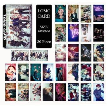 Youpop KPOP BTS Bangtan Boys WINGS Photo Album LOMO Cards NewFashion Self Made Paper Card HD Photocard LK420 - intl
