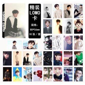 Youpop KPOP EXO For Life CHANYEOL Album LOMO Cards K-POP NewFashion Self Made Paper Photo Card HD Photocard LK444 - intl