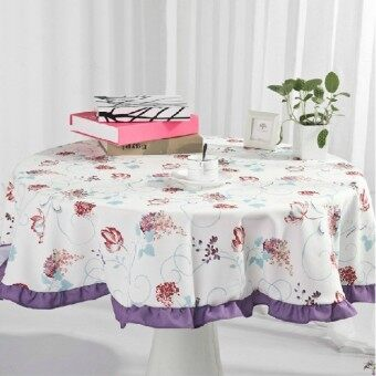 Yueer อภิบาลสิ่งทอสีม่วงผ้าปูโต๊ะผ้า