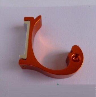 ZH Four creative space aluminum color dolphin type hanger hook(orange) - intl
