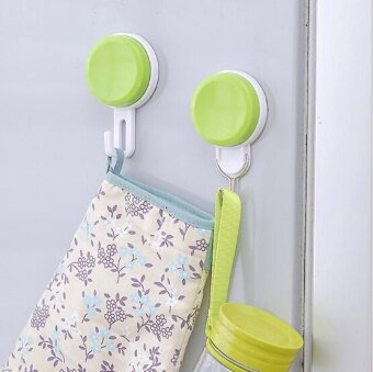 ZH three bathroom kitchen creative load-bearing plastic suction hook(gren) - intl