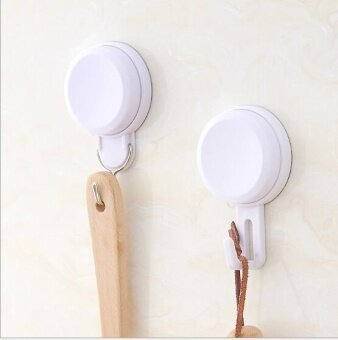 ZH three bathroom kitchen creative load-bearing plastic suction hook(white) - intl