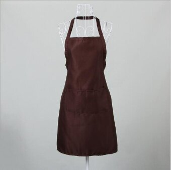 ZH women's stylish breathable kitchen apron(coffee) - intl