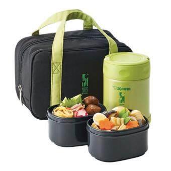Zojirushi Food Jars กระติกอาหารสุญญากาศเก็บความร้อน/เย็น 0.35 ลิตรรุ่น SW-EZE35 GA - สีเขียว