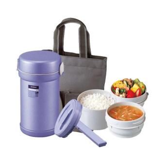 Zojirushi กล่องบรรจุอาหารสุญญากาศ รุ่น SL-NC09-AA + กระเป๋าเก็บ(สีฟ้า)