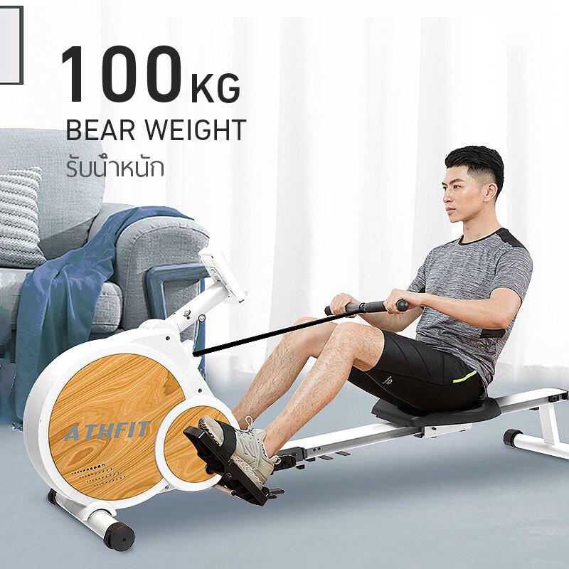 rowing machine fitness rowing machine กรรเชียงบก สุขภาพ & การออกกำลังกาย เครื่องพายแม่เหล็กในร่ม w/8 ระดับความต้านทานที่ปรับได้ Rower จอแอลซีดี น้ำหนักสูงสุด 120 กก ARM02 YES