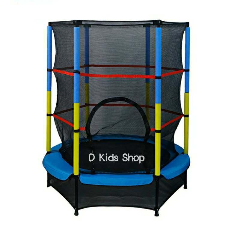 D Kids แทรมโพลีนสำหรับเด็กกระโดดเล่น หรือออกกำลังกาย ขนาด 140 x 165 cm. Trampoline jump