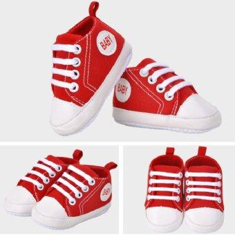 Harga 1 Pair Boy&Girl Sports Shoes First Walkers Kids ChildrenShoes(Red)(14) (Intl)