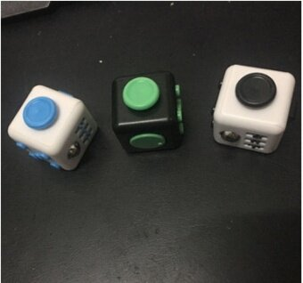10 pcs A large supply of Fidget cube  anti anxiety cube  decompression artifact  decompression dice  irritability  decompression cubeA variety of colors - intl