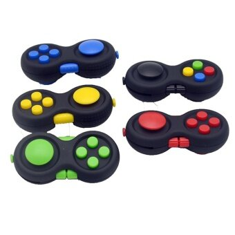 10 pcs High quality foreign trade explosion  new decompression handle  Fidget PAD decompression  dice cubered - intl