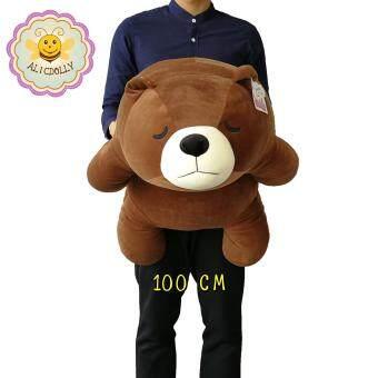 ตุ๊กตาหมีขี้เซา ขนาด 100 ซ.ม. เส้นใยไมโคร นุ่มมาก หมีหลับ alicdolly