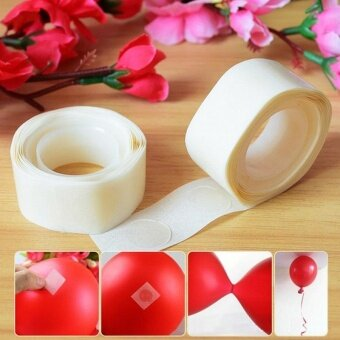 100dot /volume Removable Balloon Glue Party Wedding BirthdayDecoration Attachment Glue Dot Foil Balloons Mariage Supplies -intl