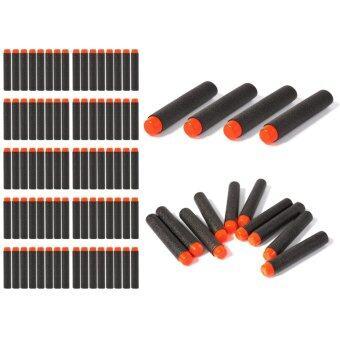 ลูกปืนของเล่น 100pcs 7.2cm EVA Refill Bullet Darts Black สำหรับ Nerf N-strike Elite Series Blasters Kid Game Toy Gun
