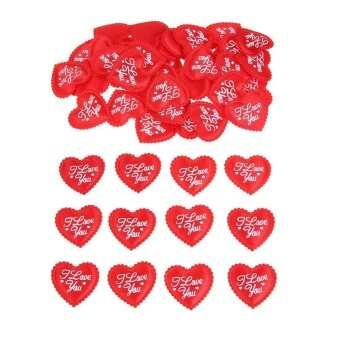 100pcs Sponge Red Heart Wedding Party Confetti Table Decoration -intl