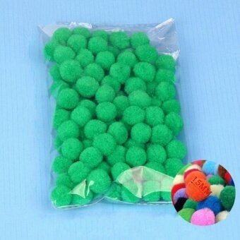 100PCS/Lot 20 Colors 15MM Multi Option Pompoms Soft Pom Poms BallsWedding Decoration Grass Green - intl