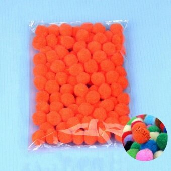 100PCS/Lot 20 Colors 15MM Multi Option Pompoms Soft Pom Poms BallsWedding Decoration Orange - intl