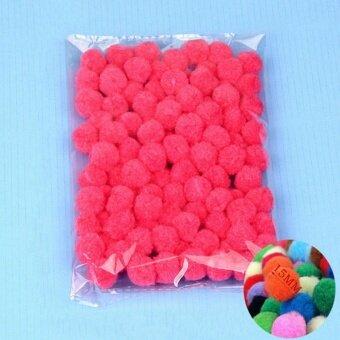 100PCS/Lot 20 Colors 15MM Multi Option Pompoms Soft Pom Poms BallsWedding Decoration Peach - intl