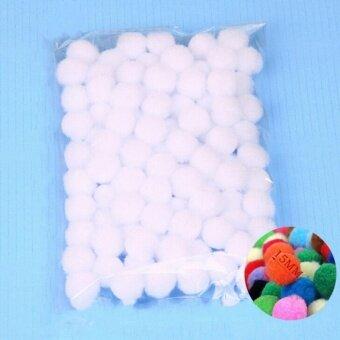 100PCS/Lot 20 Colors 15MM Multi Option Pompoms Soft Pom Poms BallsWedding Decoration White - intl