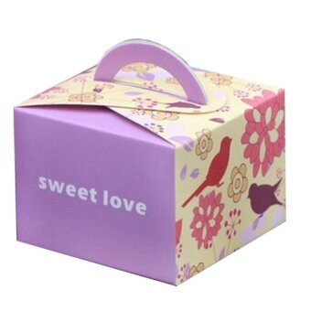 10PCs 6.5CM Small Purple Sweet Love Wedding Favor Box Birthday Shower Party Candy Boxes - intl