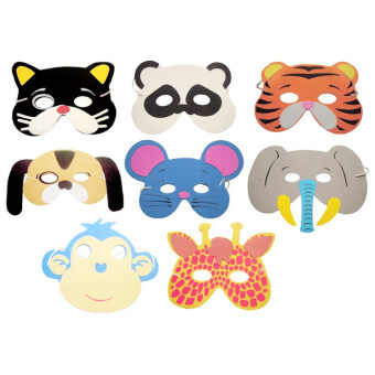 10PCS Assorted EVA Foam Animal Masks for Kids Birthday Party - intl