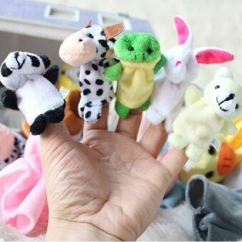 10Pcs Finger Double Layer Tape Animal Puppet Means Tell The Story Good Doll Plush Toys for Children (Intl) - intl