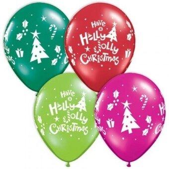 11 Inch Christmas Assorted Latex 50pk - intl