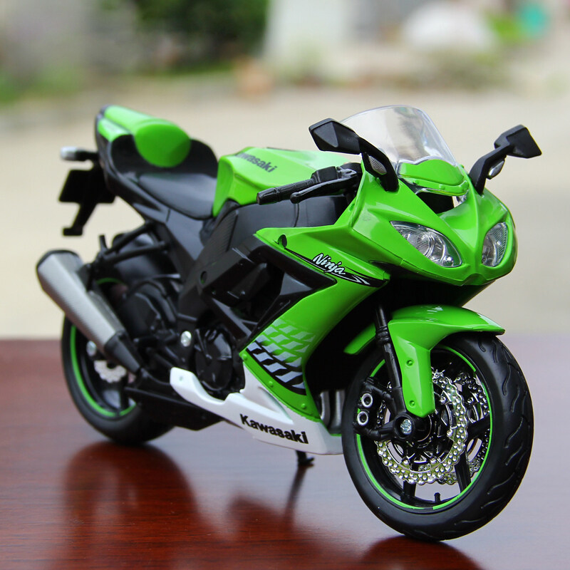 1/12 Kawasaki Ninja ZX-10R Diecast Motorcycle Model Green - intl