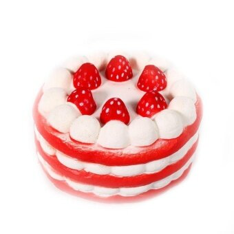 115cm Lovely Quishy Slow Rising Strawberry Cake Scented Kids ToyDecorationRed – intl