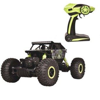 รถบังคับวิทยุวิบาก รถบังคับไฟฟ้า รถไต่หิน รถบักกี้ ขนาด 1:18 Rock Crawler 4WD 2.4ghz (สีเขียว)