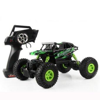 รถบังคับวิทยุ รถบังคับไฟฟ้า รถไต่หิน รถบักกี้วิบาก ขนาด 1:18 Rock Crawler 4WD 2.4ghz (Green)