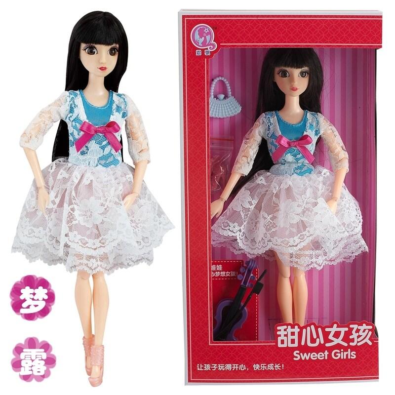 ชุดกล่องตุ๊กตาบาร์บี้ขยับได้ 12 ข้อและตาแบบ3D