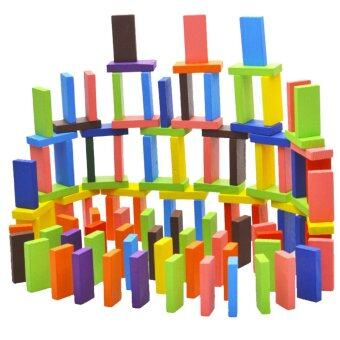 120 PCS Children Babies Kids Colorful Domino Building Blocks PineWooden Toys Early Intelligence Educational Blocks