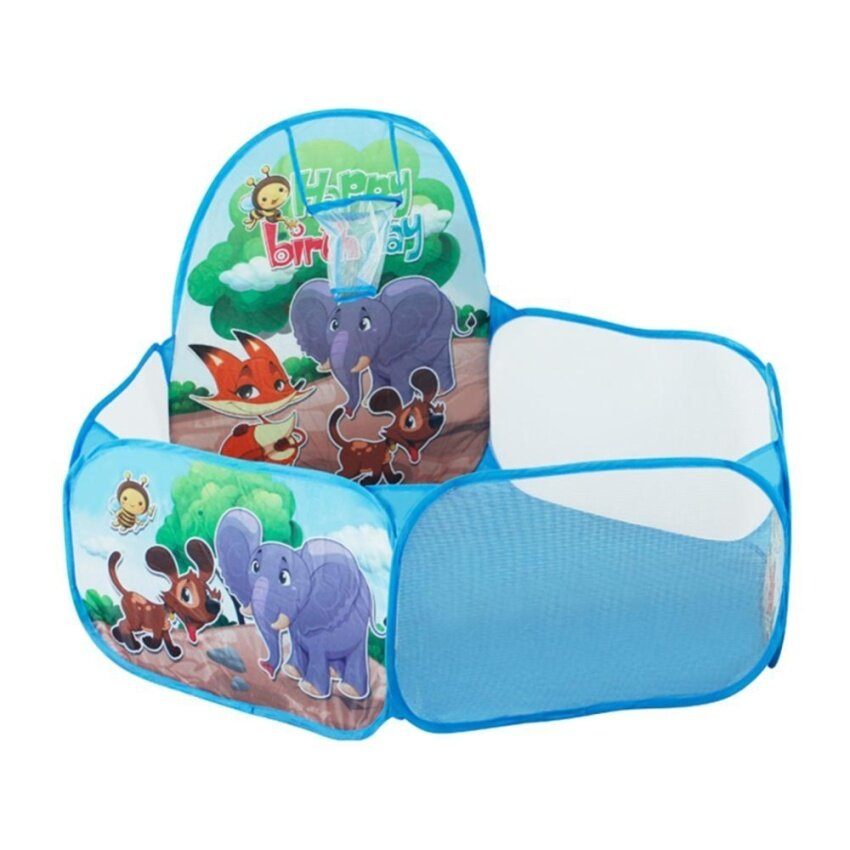 1.2m Kid Inside Tent Animal Pattern Shoot Basketball Basket Ocean Ball Pool - intl