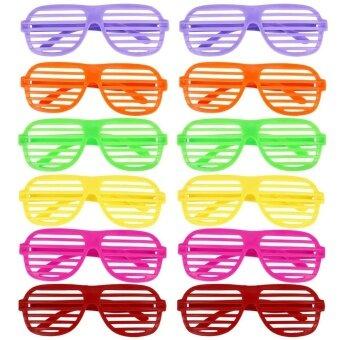 12Pair Oriental Trading Shutter Shading Glasses - intl