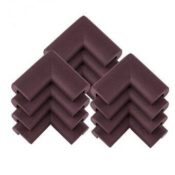 Harga 12pcs Baby Safety Thickened NBR Foam Corner Edge Cushions DeskTable Protector Cover Guard (Brown) (Intl)