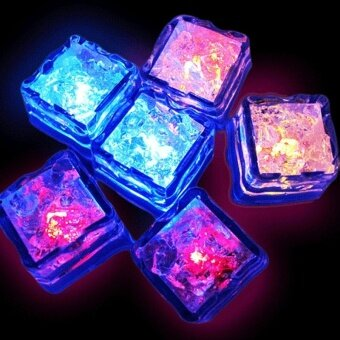 12pcs Water Sensor LED Luminous Lces Multi Colors Changing IceCubes - intl