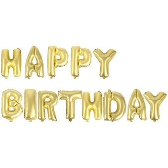 13pcs HAPPY BIRTHDAY Letter Foil Balloons Birthday PartyCelebration Decoration(Gold) - intl