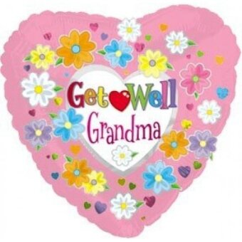 18 Inch Get Well Grandma Balloons - intl