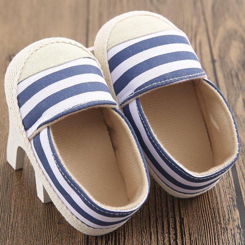 สีน้ำเงินทารกแรกเกิดที่ 18เดือนเด็ก ๆ หนุ่มสาวบนพื้นรองเท้าออกรองเท้าฝ้าย S1383 - Intl