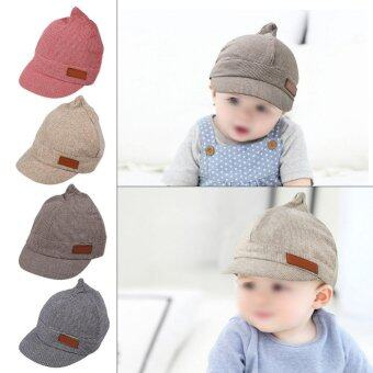 1Pc Baby Girls Boys Cotton Hat Summer Beach Outdoor Sun Hats CapFor 6-18 Months Kids(#2 Beige) - intl