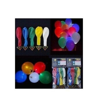 1pcs COROMISE STORE LED Light up Balloons Mixed Color Party WeddingFestival Decoration Five Color - intl
