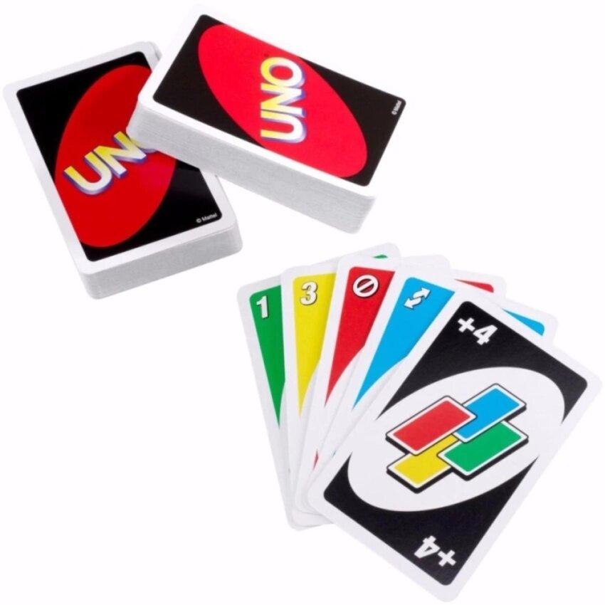 ไพ่อูโน่เกม 2 สำรับ เล่นได้ตั้งแต่ 2-4 คน เหมาะสำหรับงานเลี้ยงและงานปาร์ตี้- UNO Card 1 Set for Party Play 2-10 People